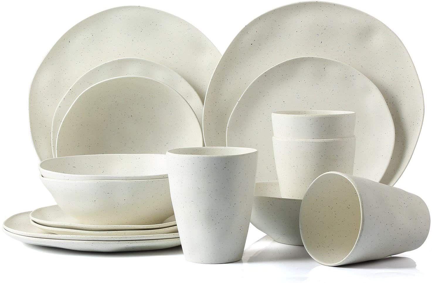 Lekoch Bamboo Dinnerware Set