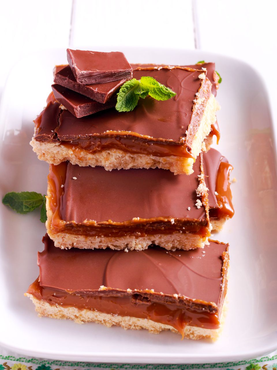 Millionaires' Shortbread - caramel and chocolate shortbread bars