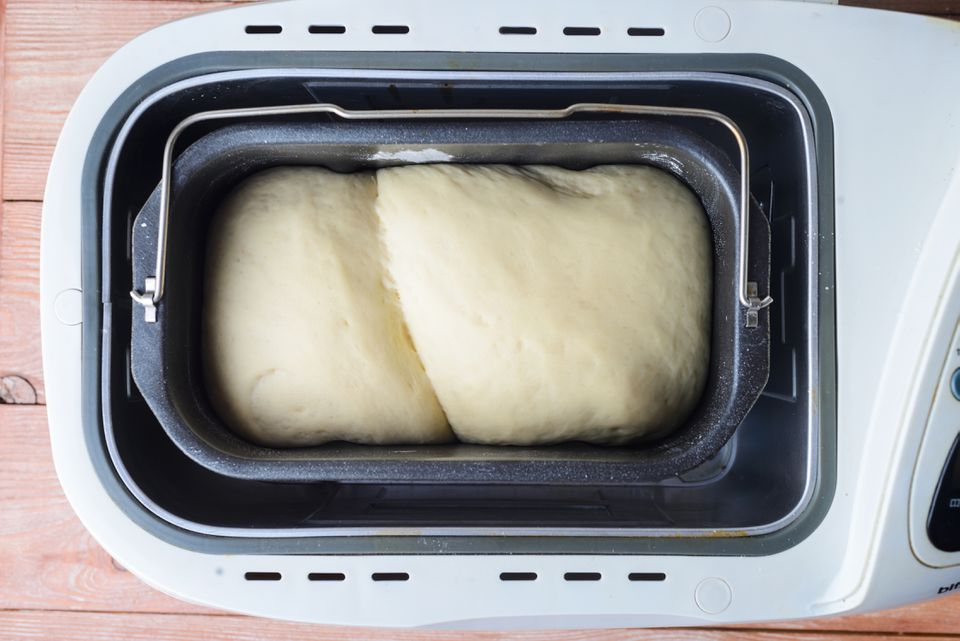 Add dough to bread machine