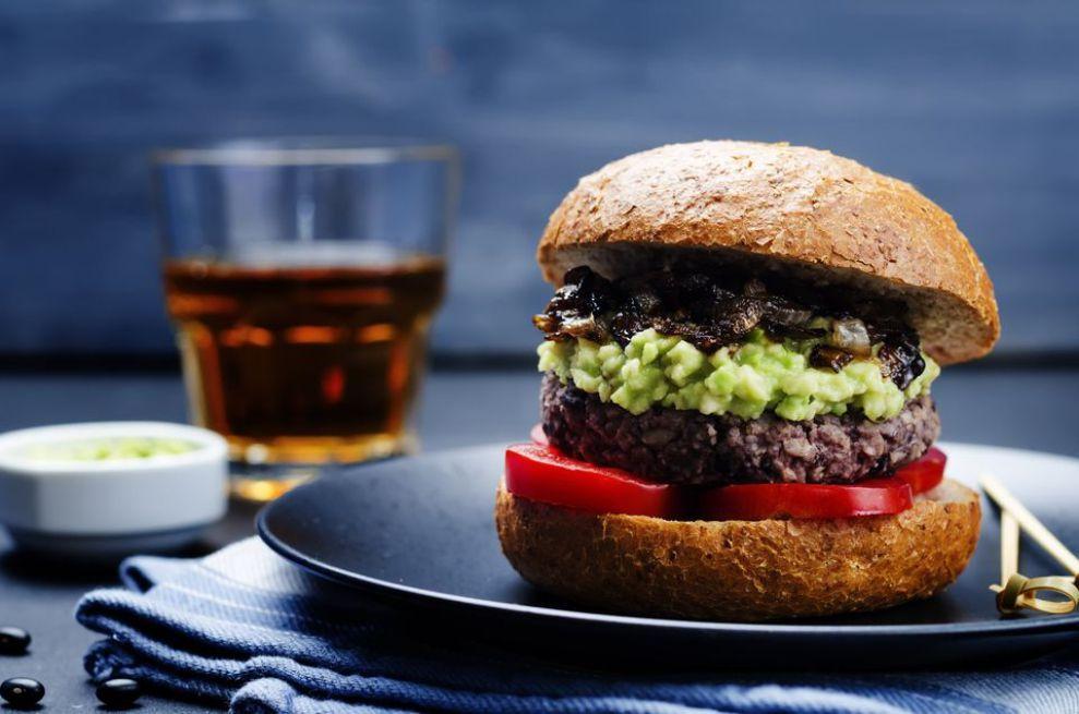 Vegan Spicy Black Bean Burger