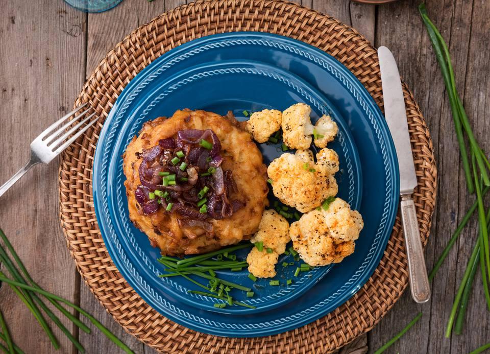 Potato and onion pancakes