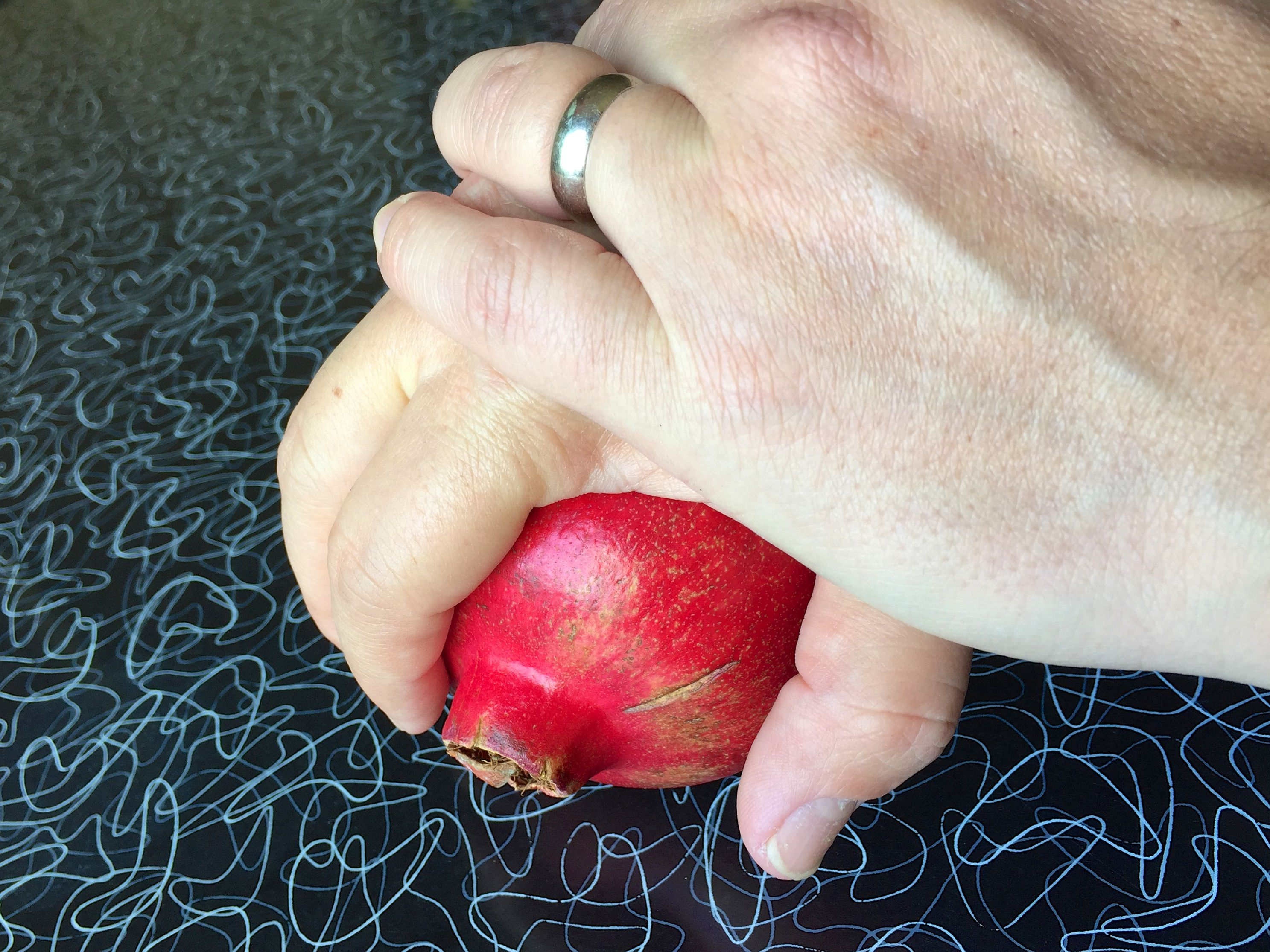 Rolling the Pomegranate for Juice