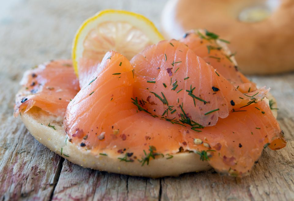 Classic lox on a bagel