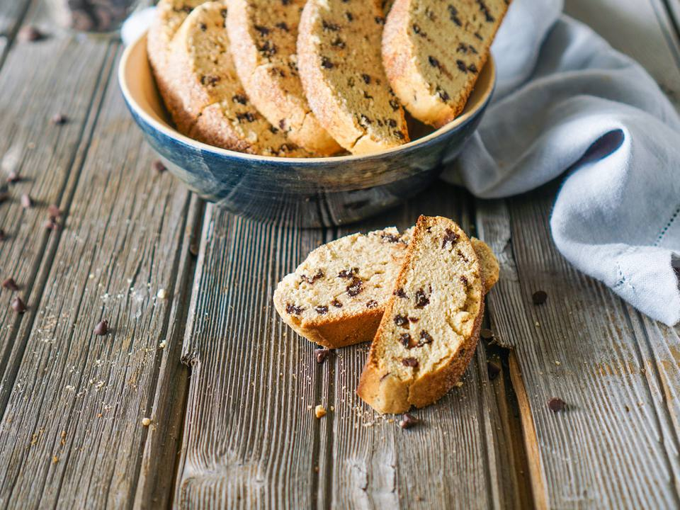 Easy Chocolate Chip Biscotti