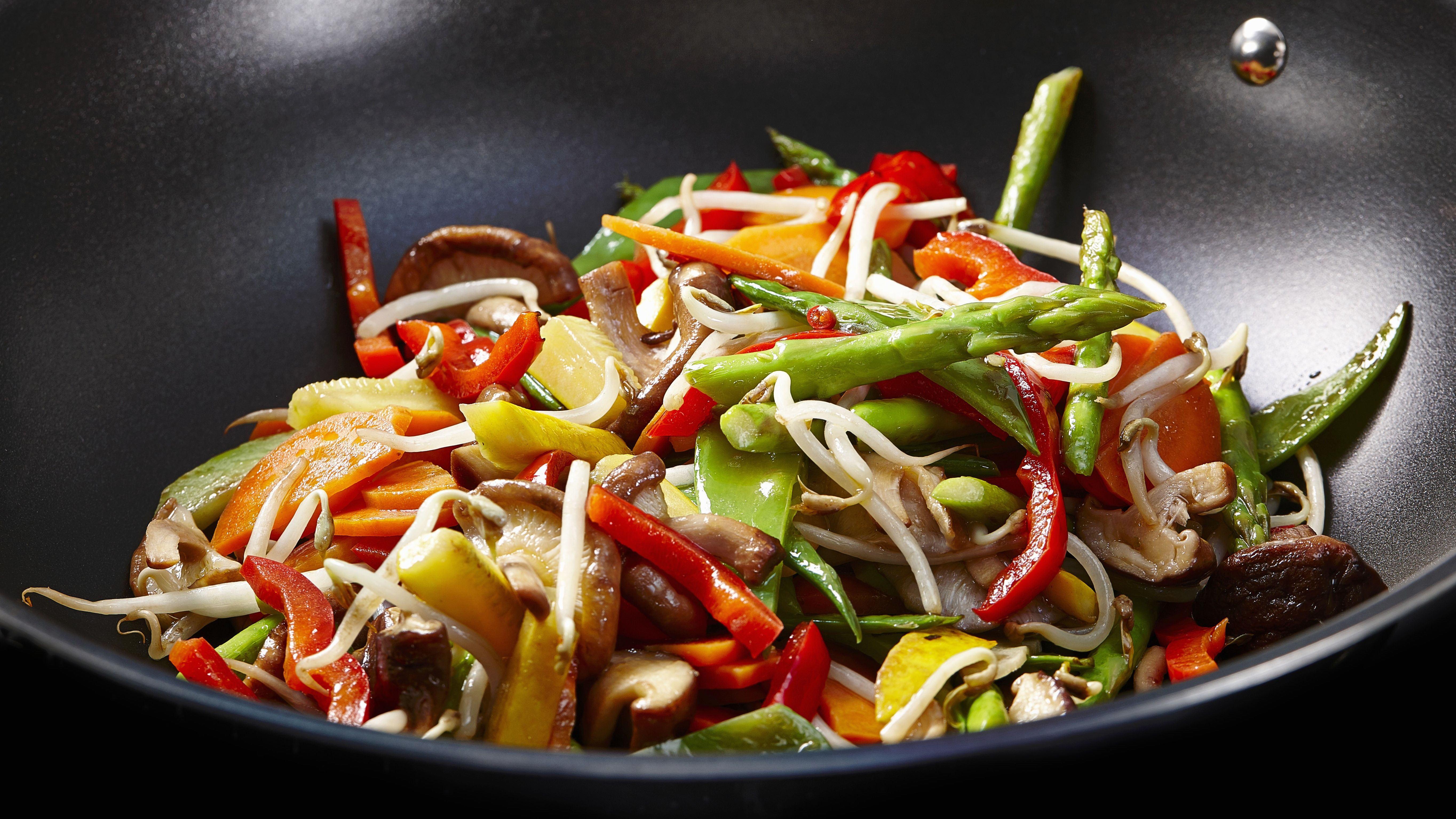 Asparagus With Mixed Vegetables Stir Fry Recipe