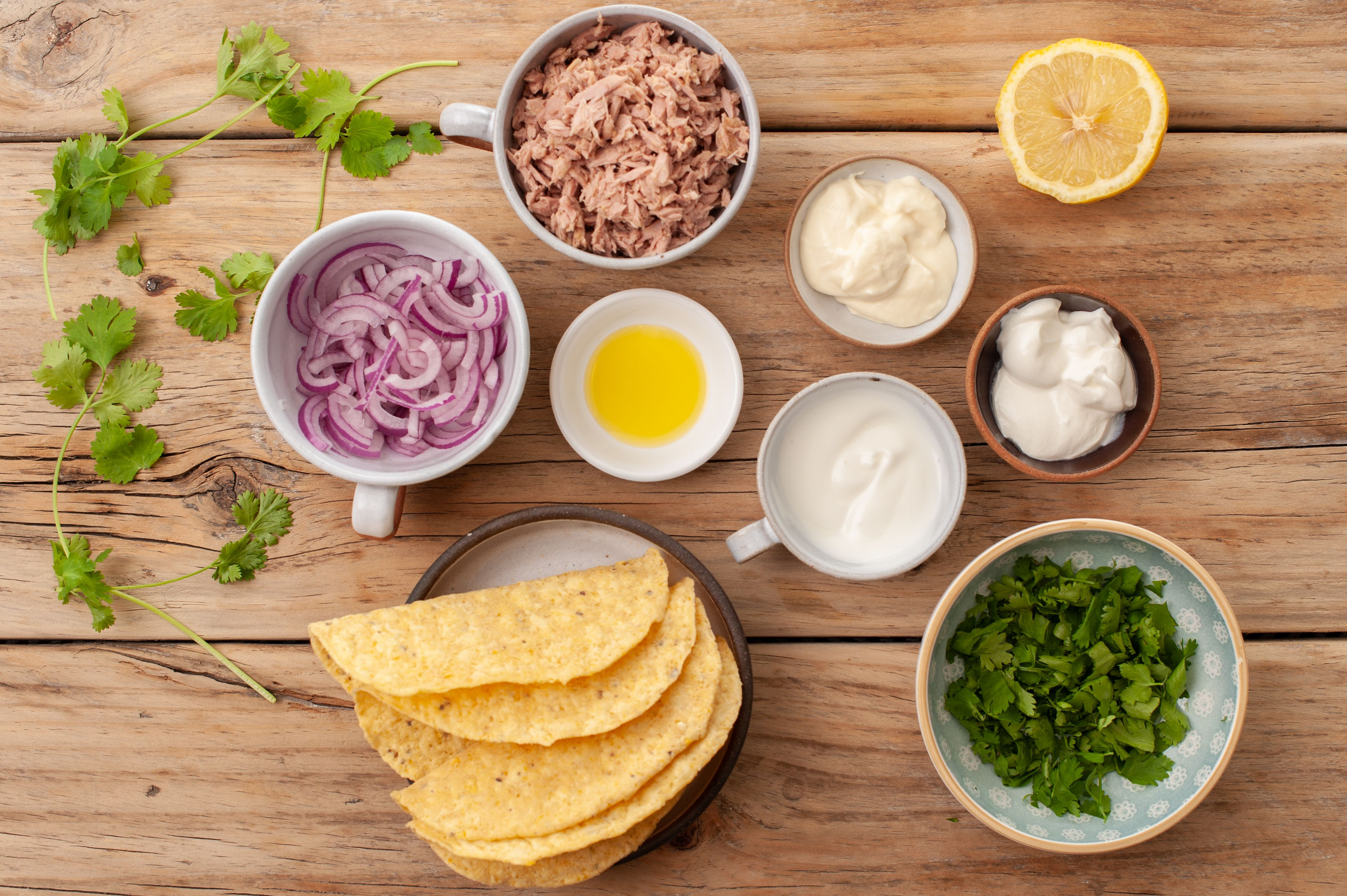 Ingredients for quick tuna taco