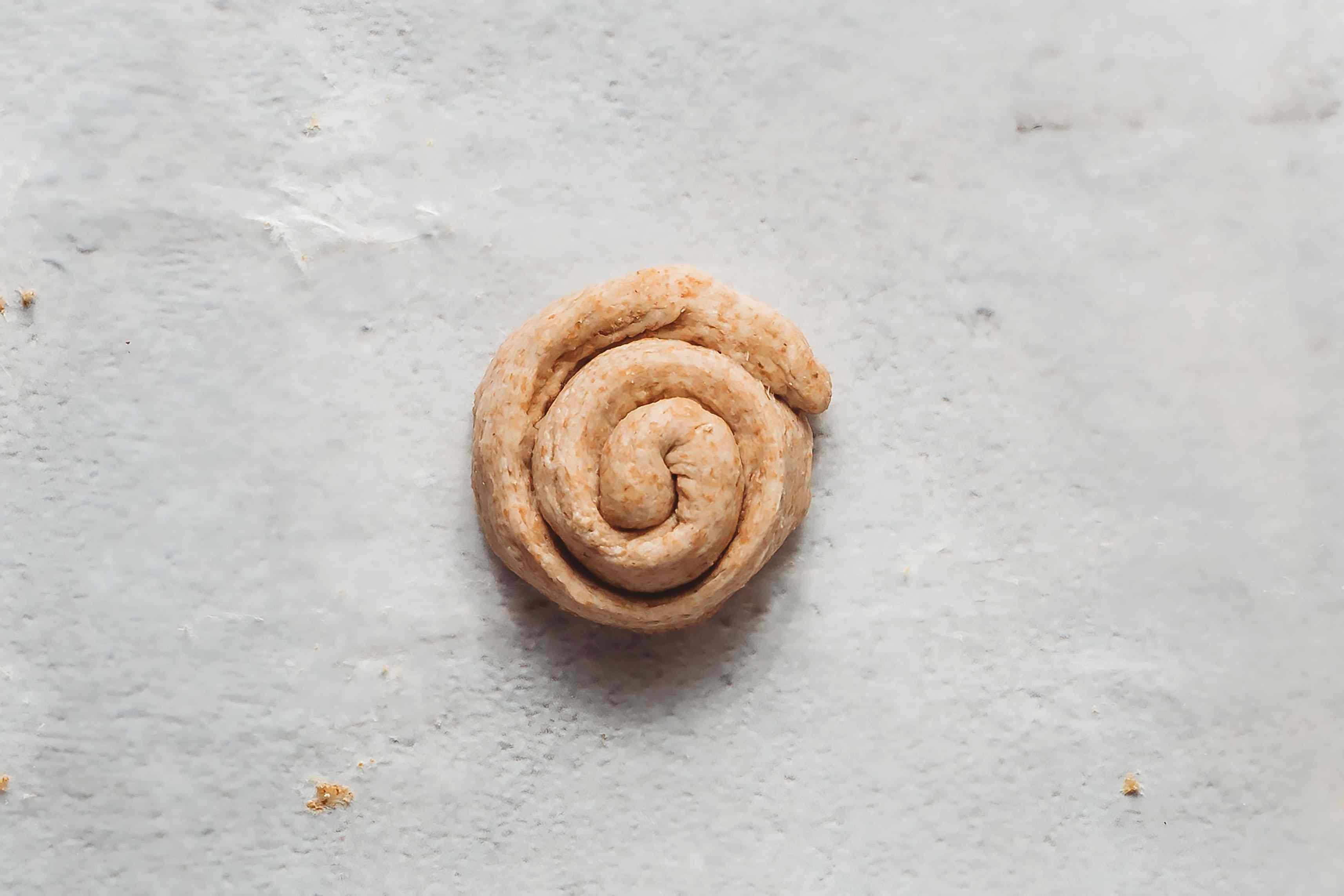 coil dough into a spiral