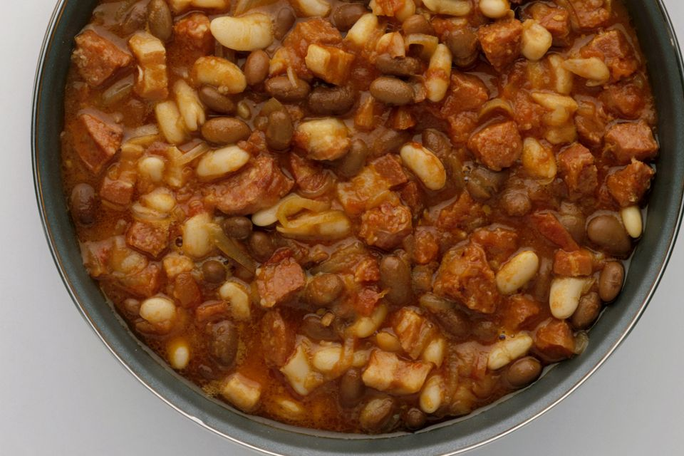 Party Baked Beans in bowl