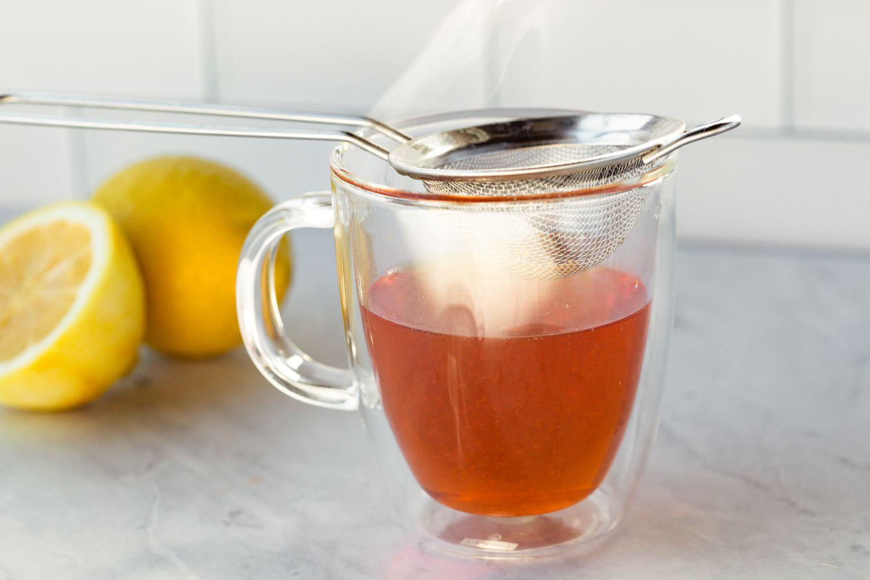 Simple Middle Eastern Lemon Tea, Remove the tea bags and strain