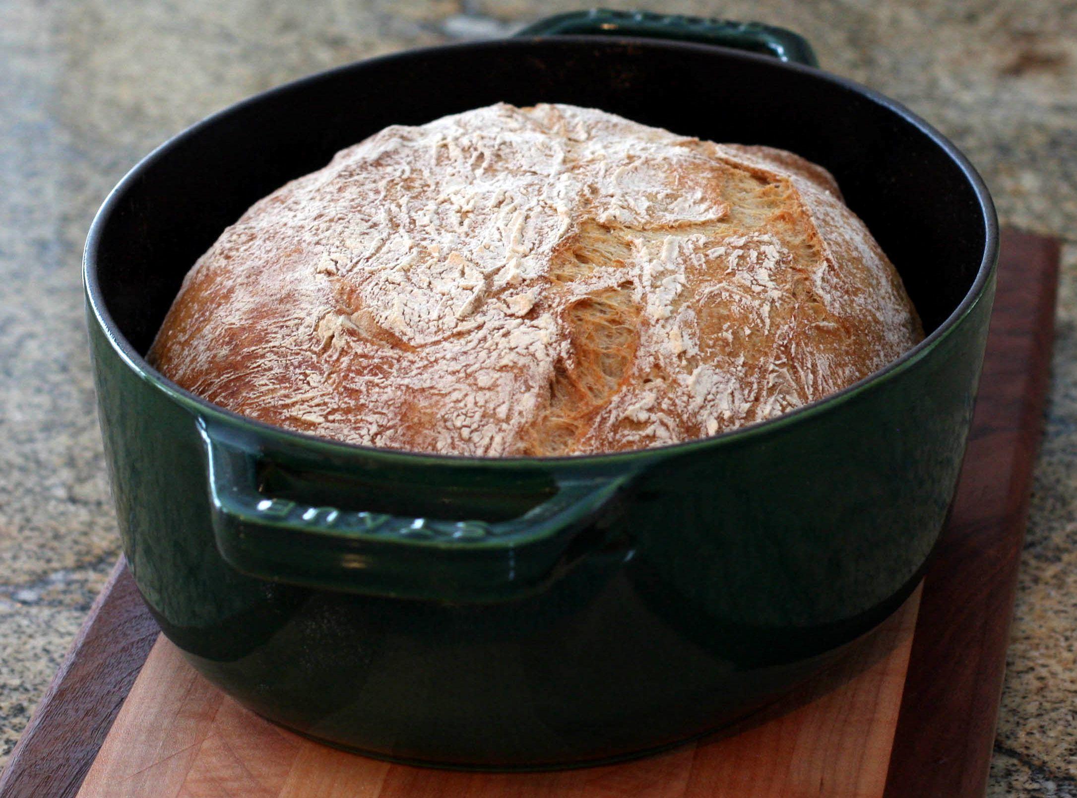 No Knead Beer Rye Bread Recipe