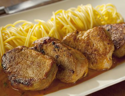 Medallions of pork with italian tomato and herb sauce