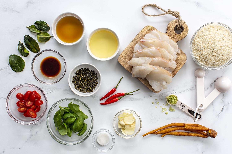 Thai Drunken Fish (Pad Kee Mao) ingredients