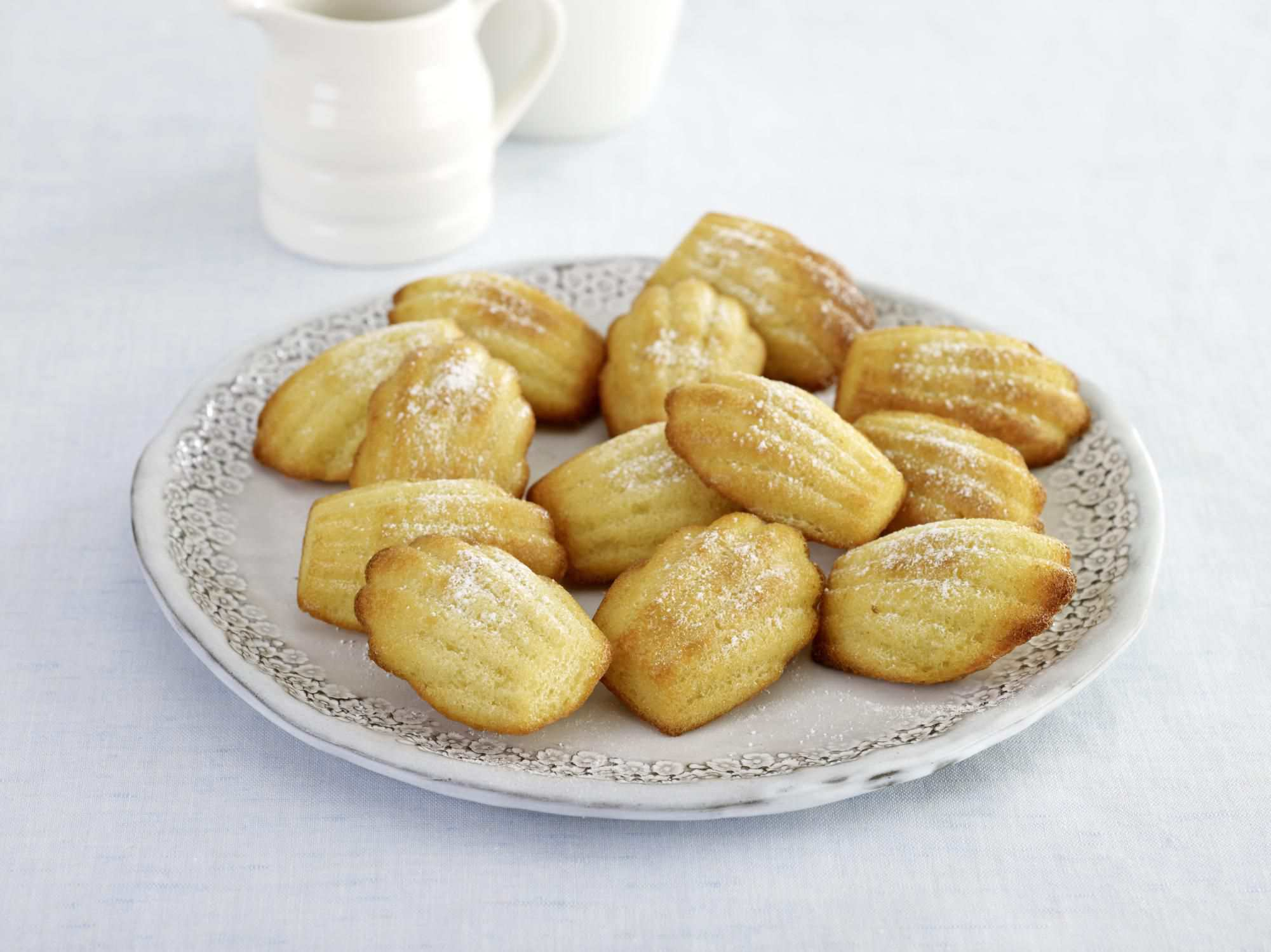 Madeleines served on a plate