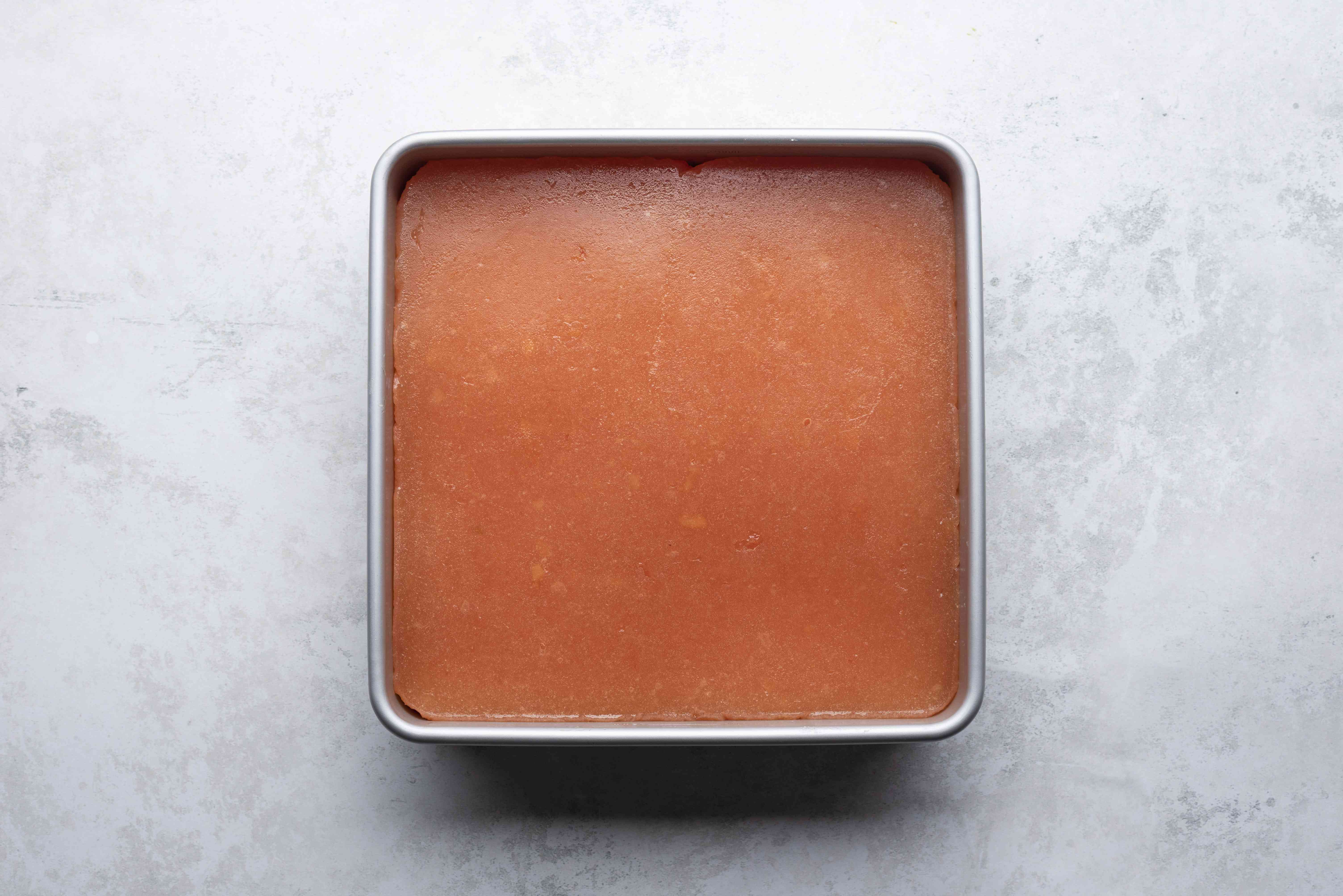 quince paste in a baking dish