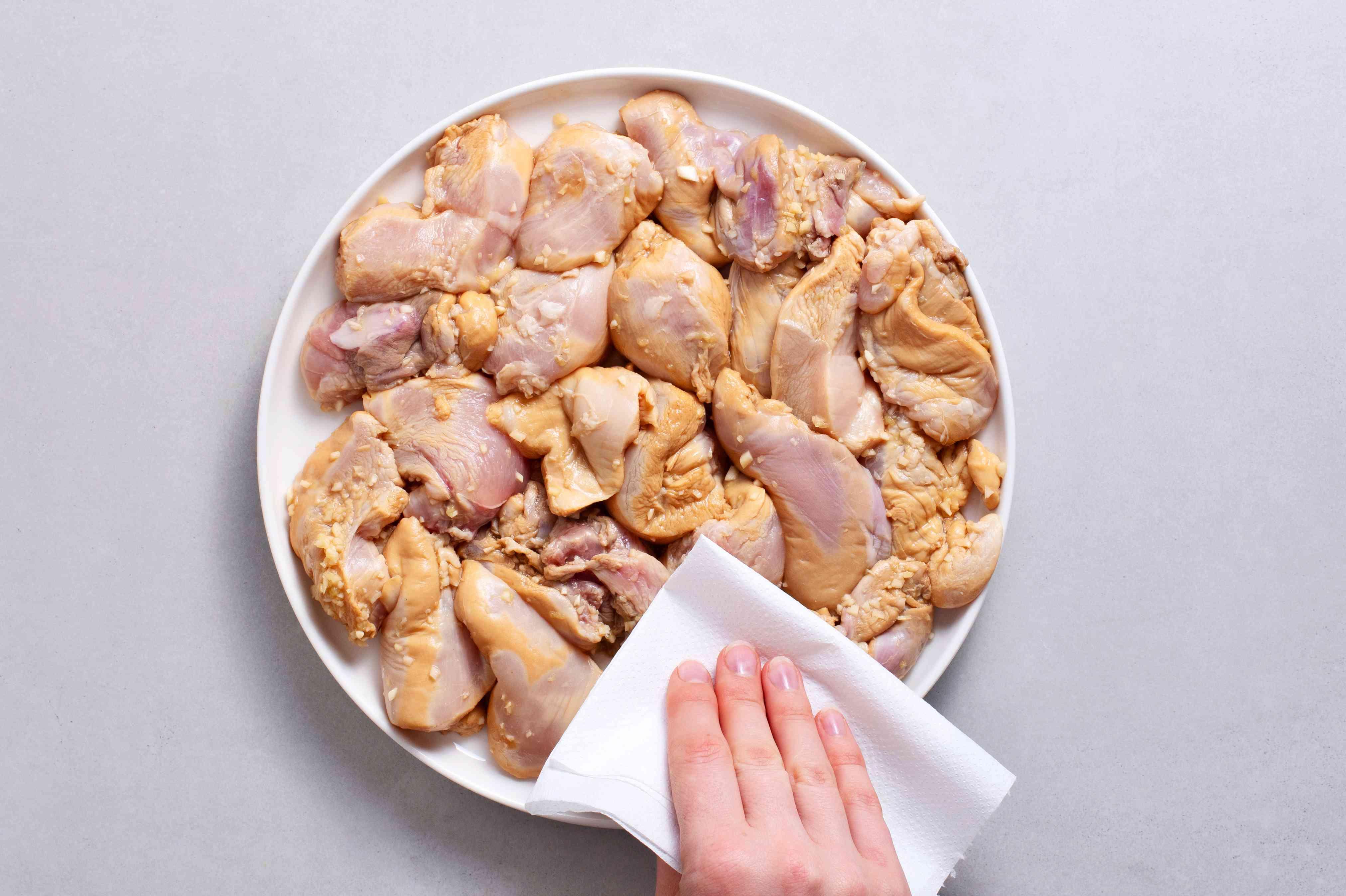 pat chicken dry
