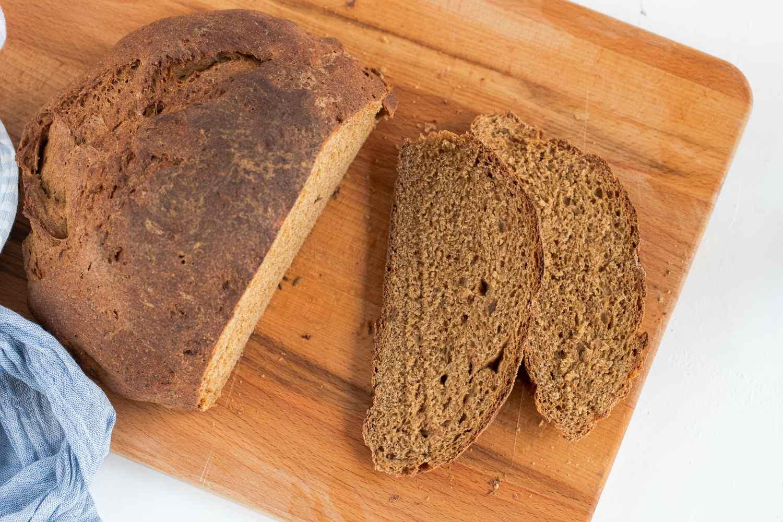 Pumpernickel Bread loaf and slices