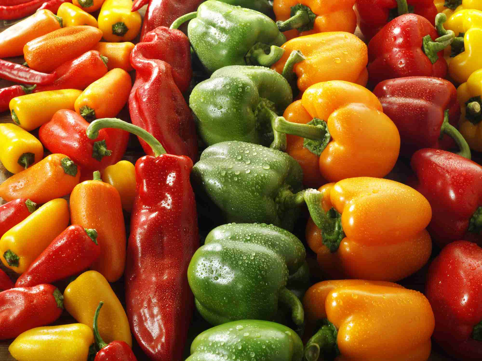 Mix of Sweet Peppers at the Market