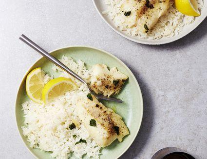 Healthy Baked Lemon Garlic Cod