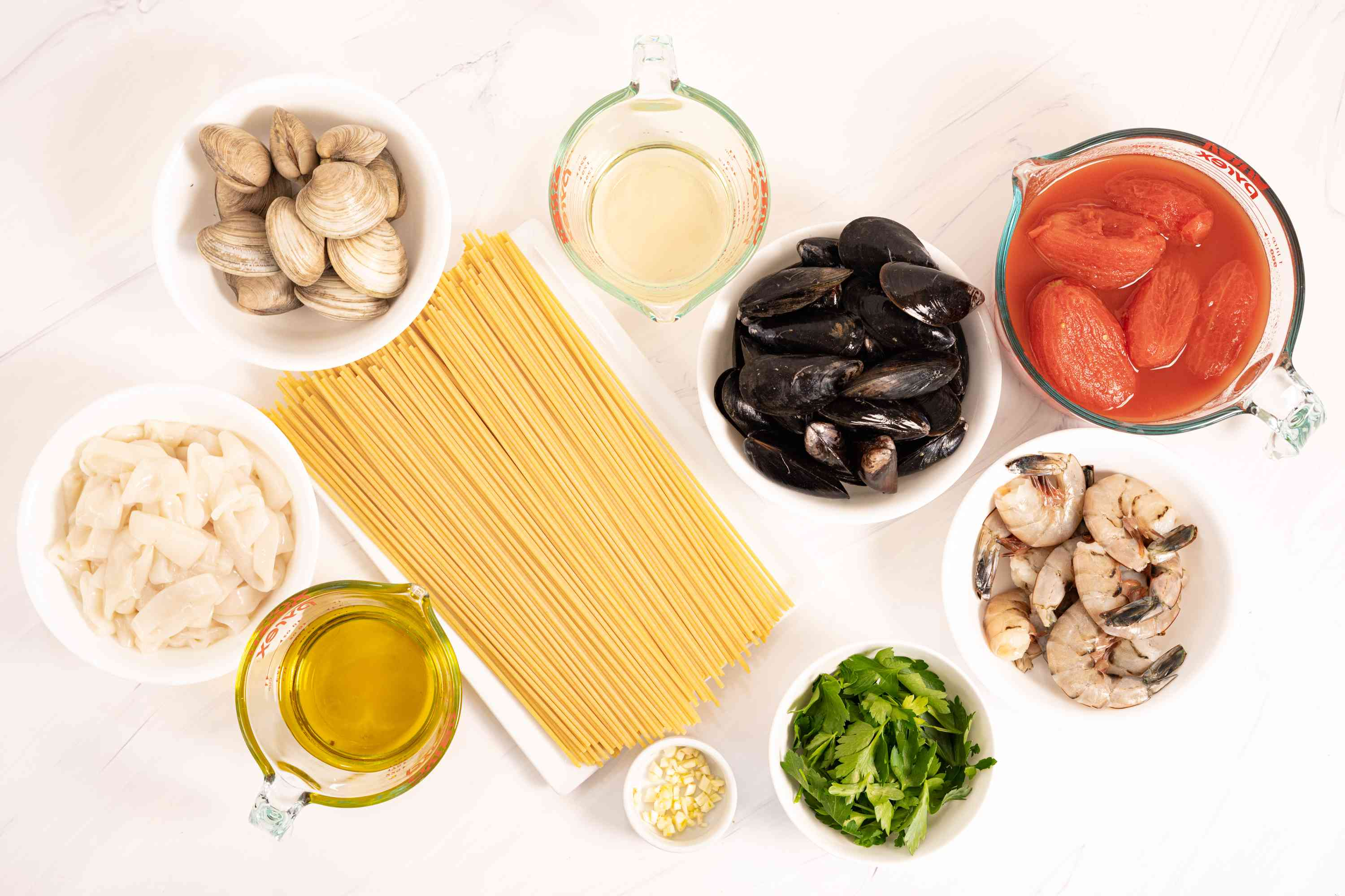 Pasta With Mixed Seafood (Pasta alla Posillipo) ingredients