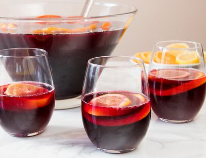 Basic Red Wine Sangria Punch