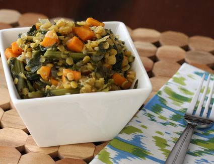 Lentils With Sweet Potatoes
