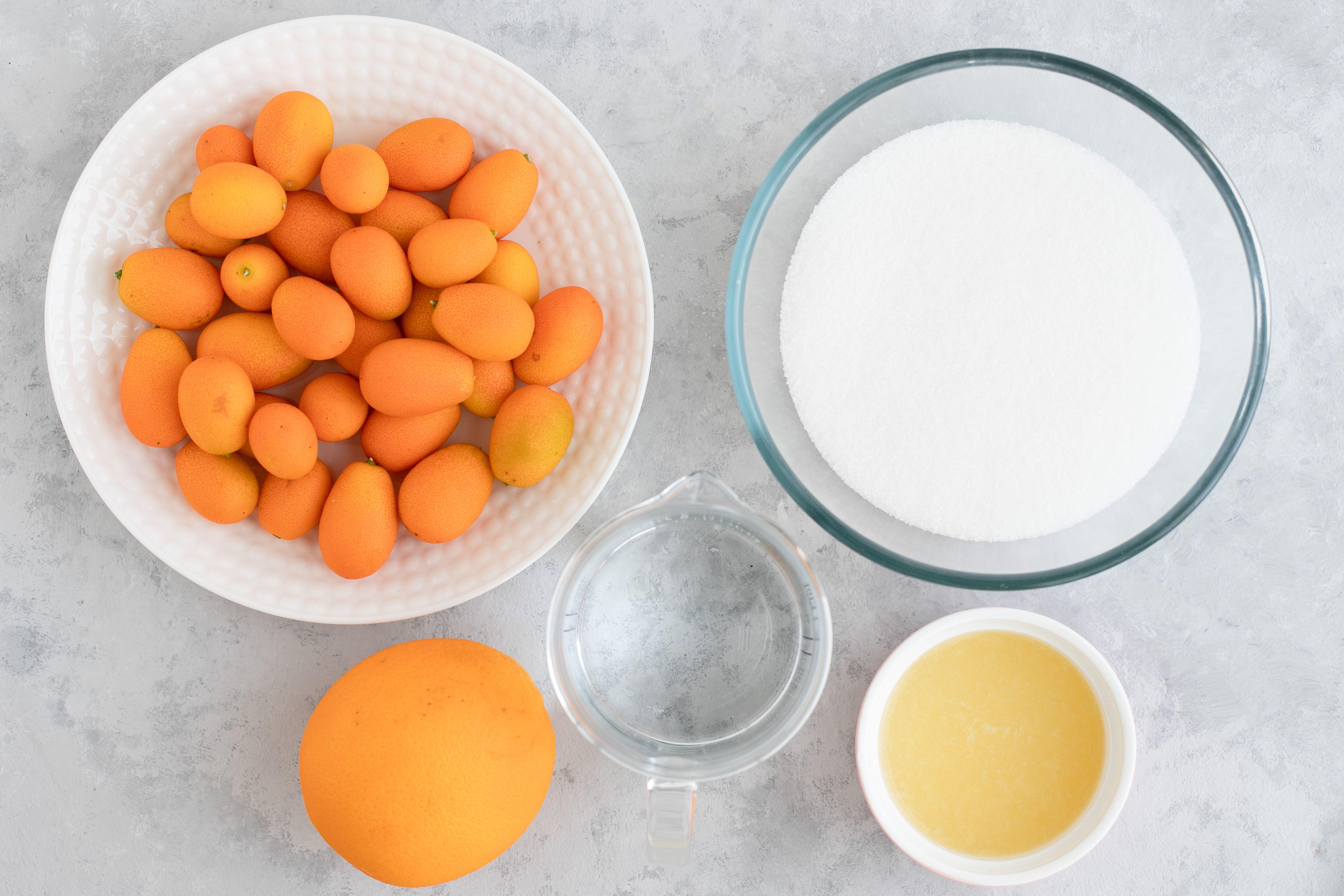 Ingredients for kumquat marmalade