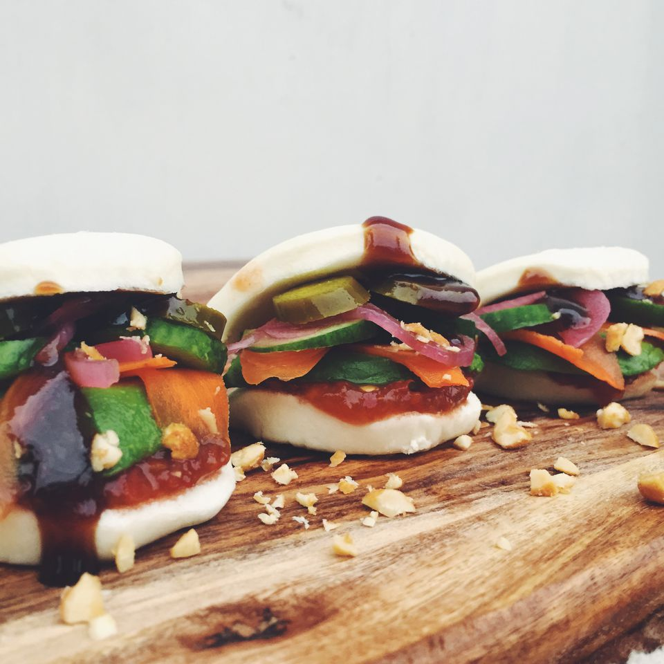 Vegetarian Steamed Buns