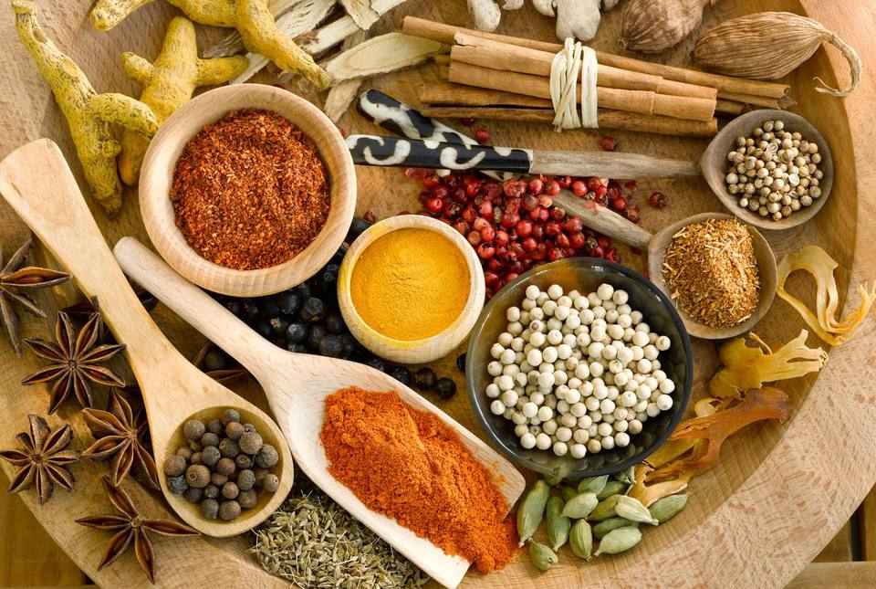 Assorted spices are an essential part of a stocked pantry