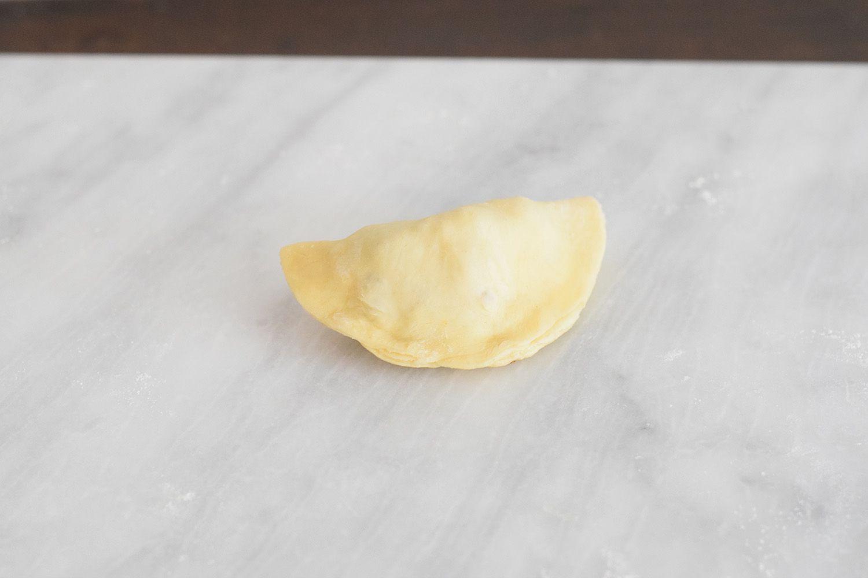 A sealed empanada