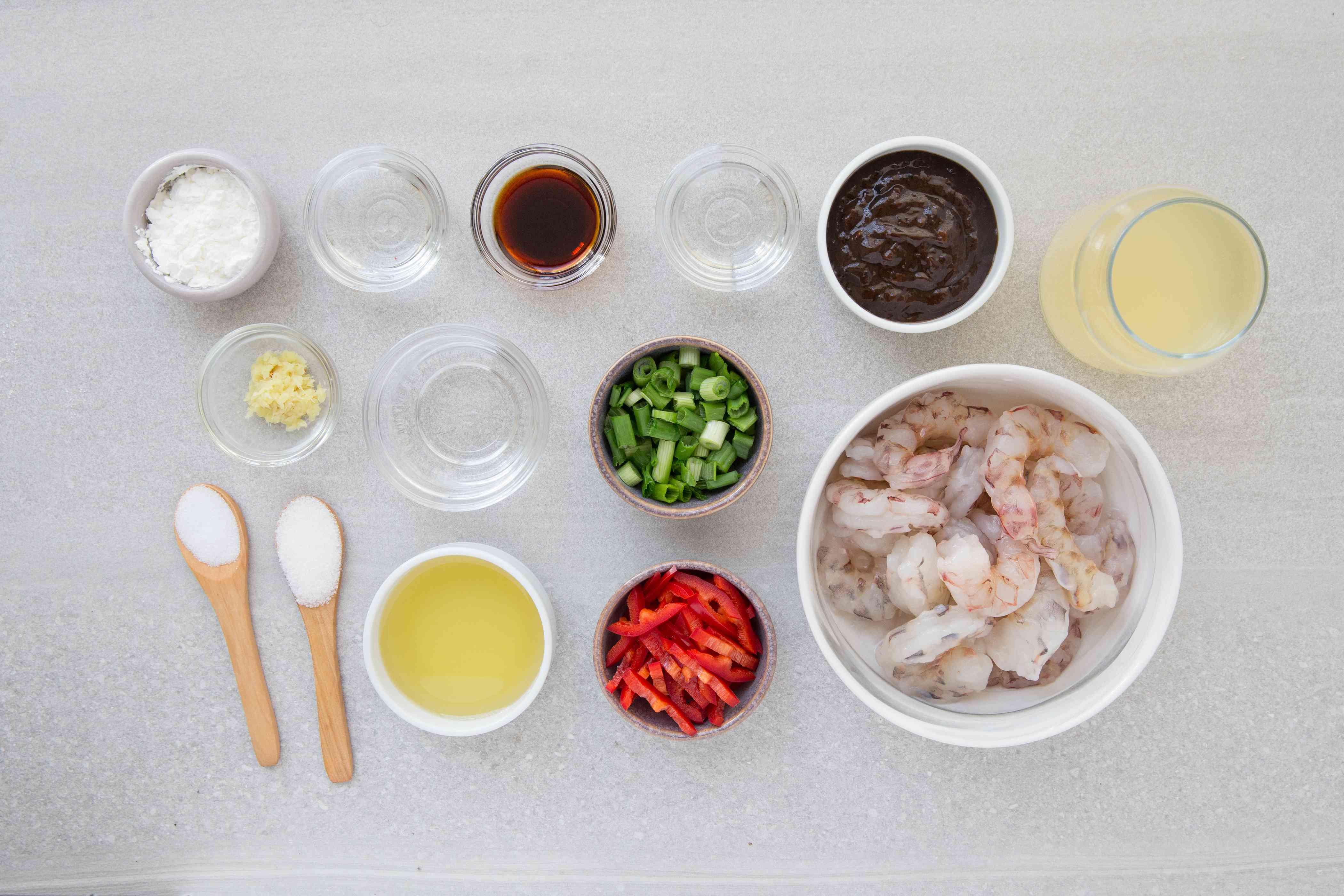 Chinese Stir-Fry Shrimp in Black Bean Sauce ingredients