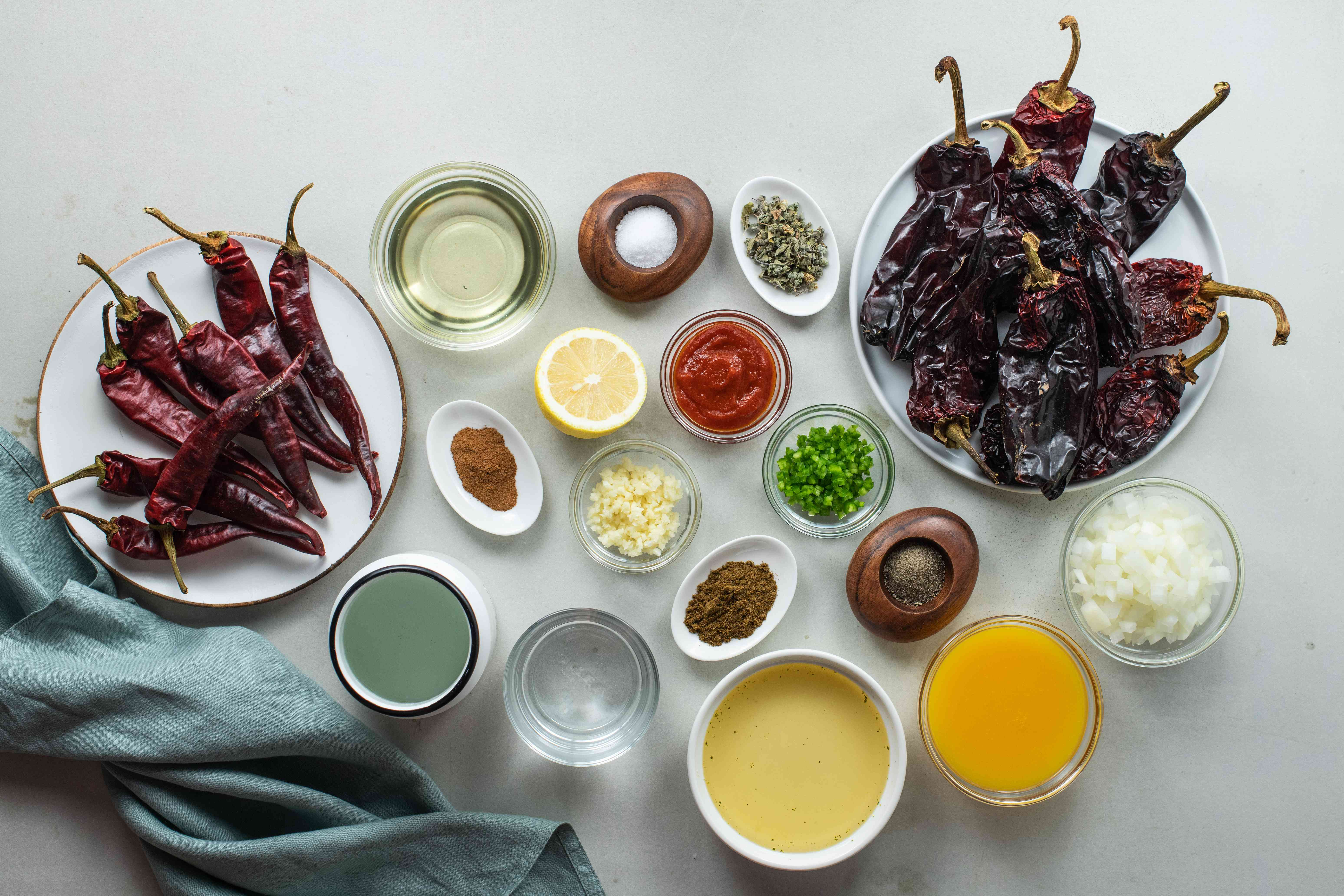 Ingredients for adobo sauce