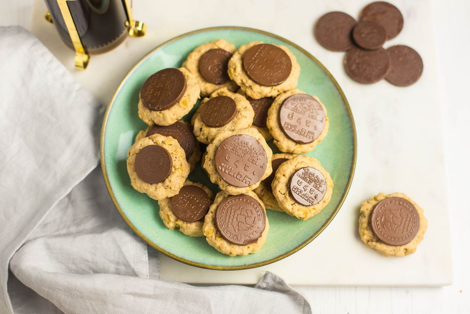 Hanukkah gelt thumbprint cookies recipe