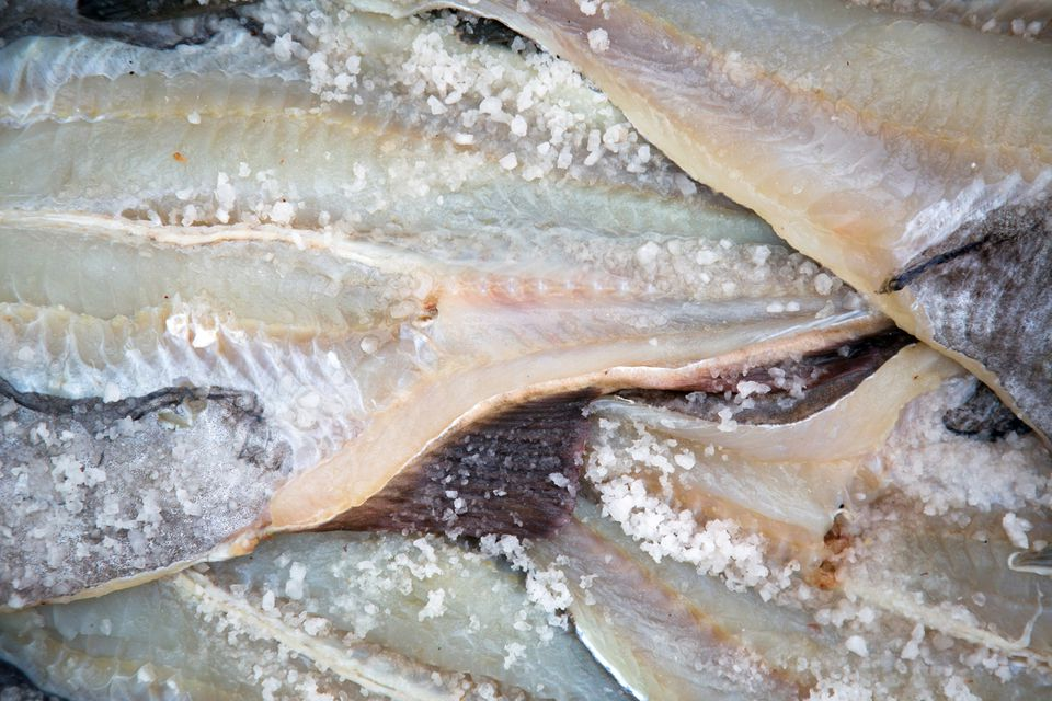 Fresh, wet salted cod produced traditionally
