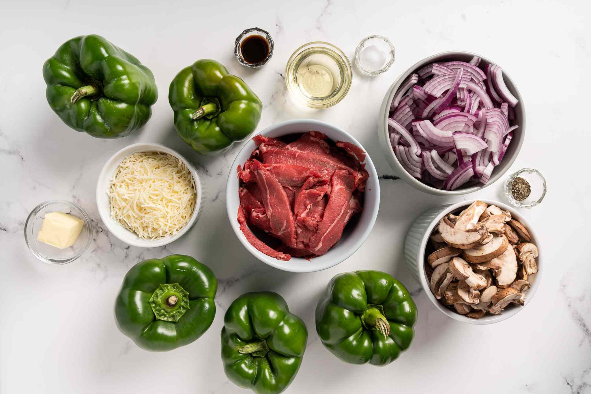 Cheesesteak Stuffed Peppers ingredients