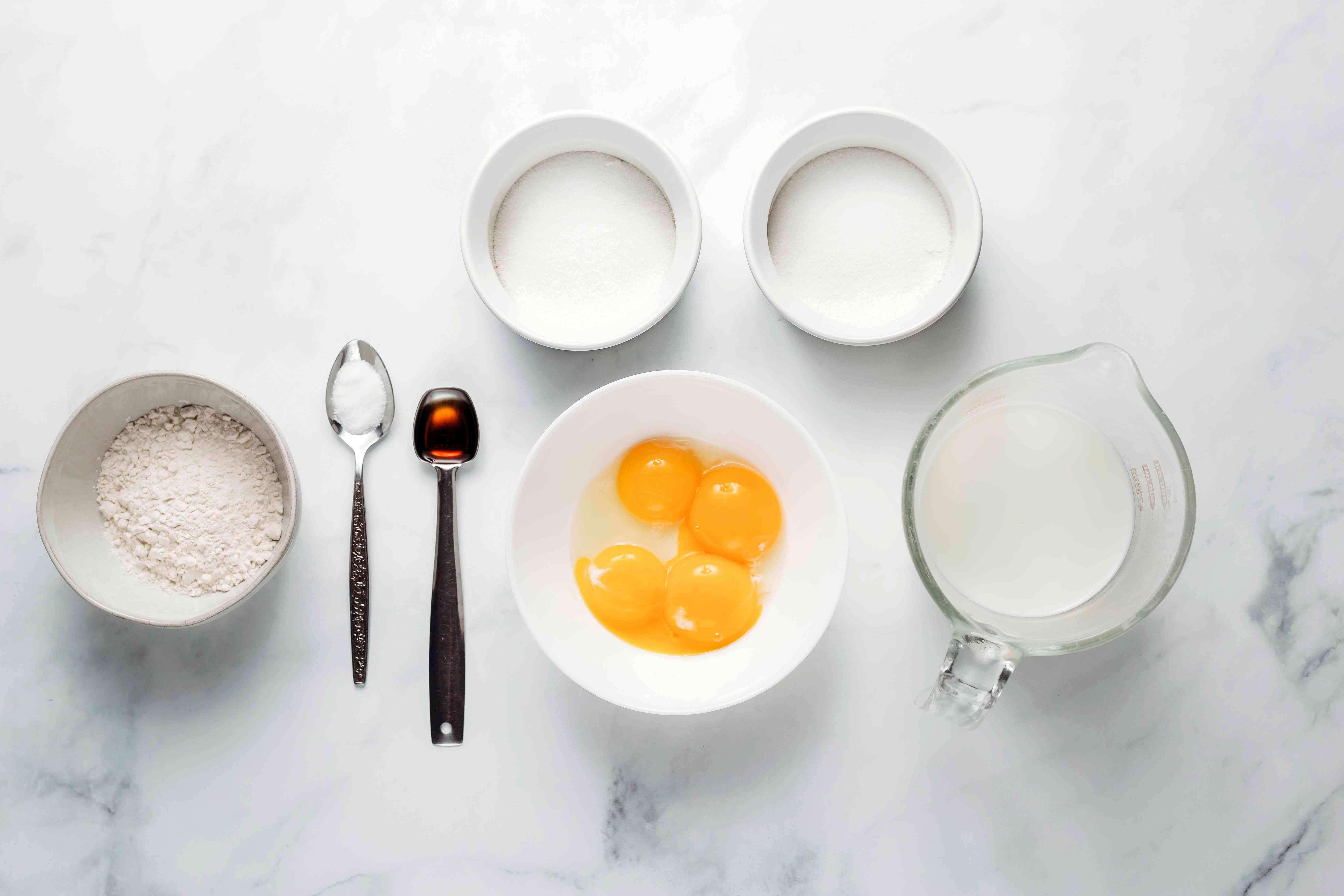Vanilla Pastry Cream ingredients