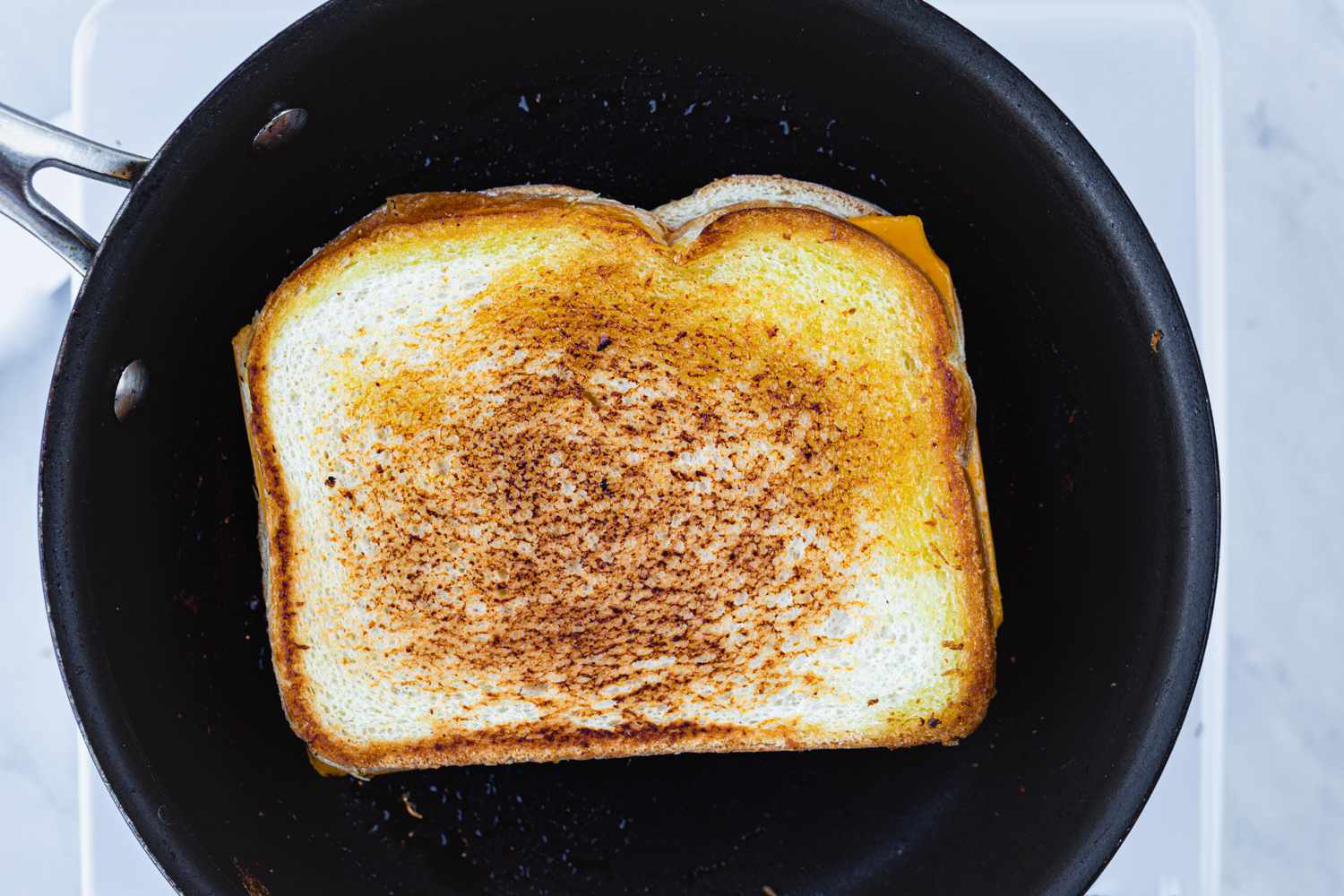cook grilled cheese on the other side