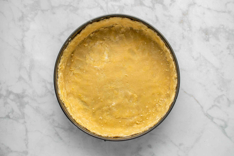 cake crust in a springform pan