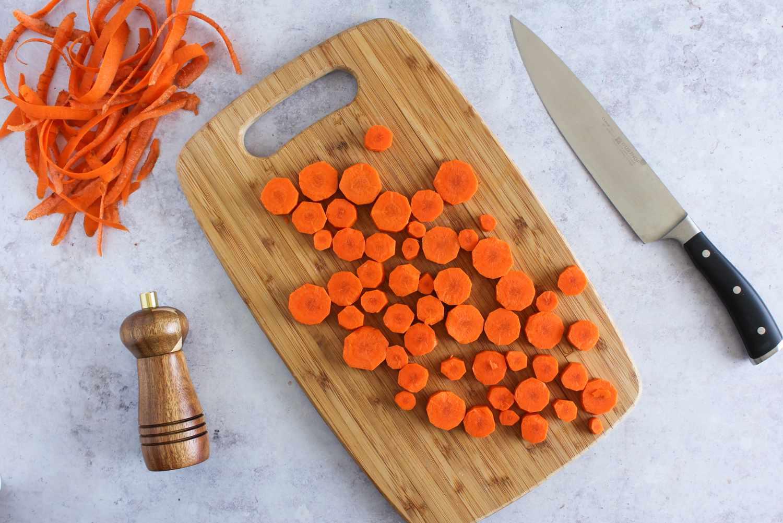 Chop carrots