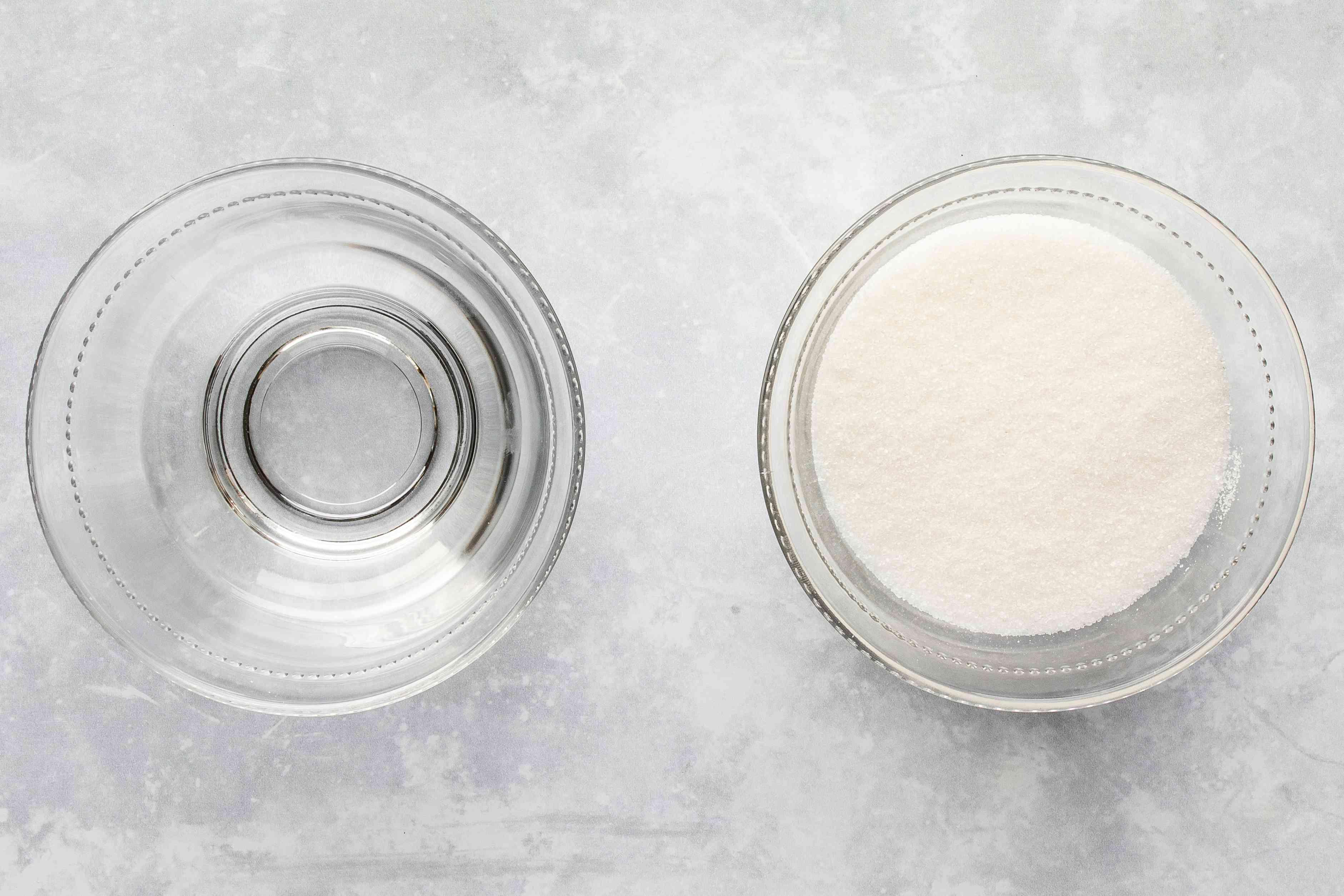 Ingredients for caramel glaze