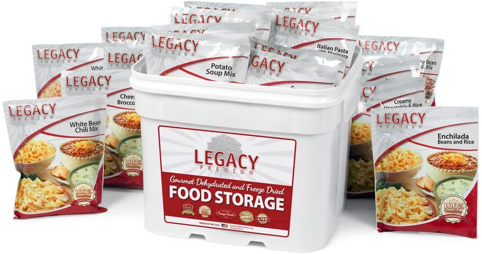 Legacy Premium Food Storage 120 Serving Gluten-Free Entrée Bucket