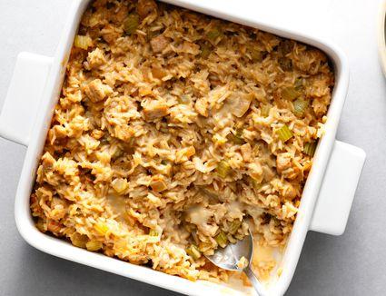 Pork, Rice, and Celery Casserole