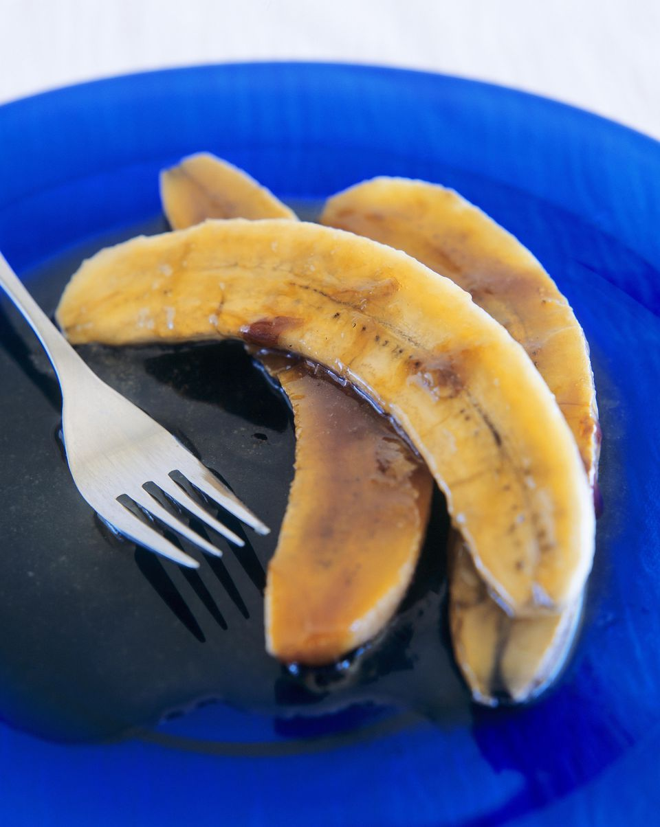 Grilled brown sugar bananas