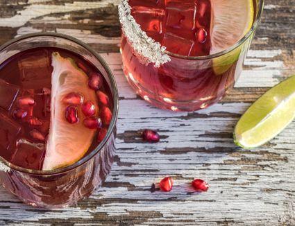 Pomegranate Gin Fizz Cocktail
