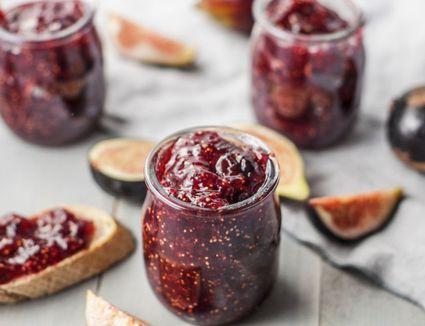 Homemade fresh fig jam