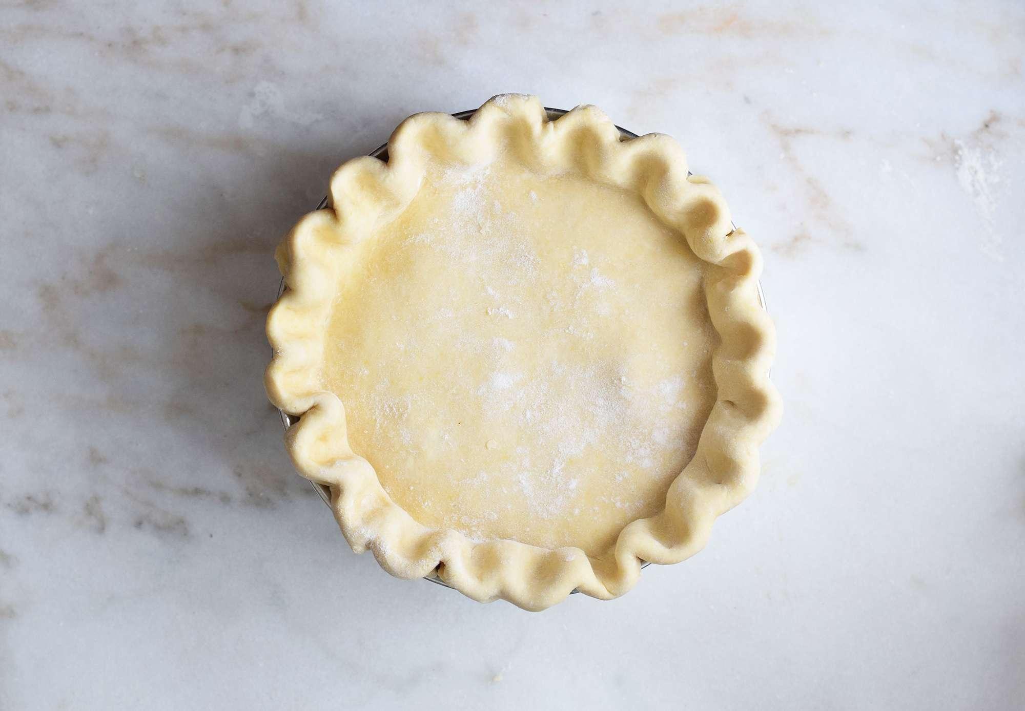 pie crust crimped on top