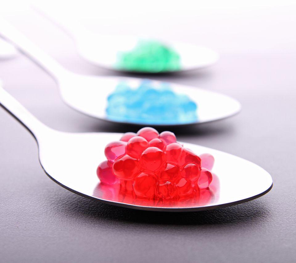Molecular caviar in spoons