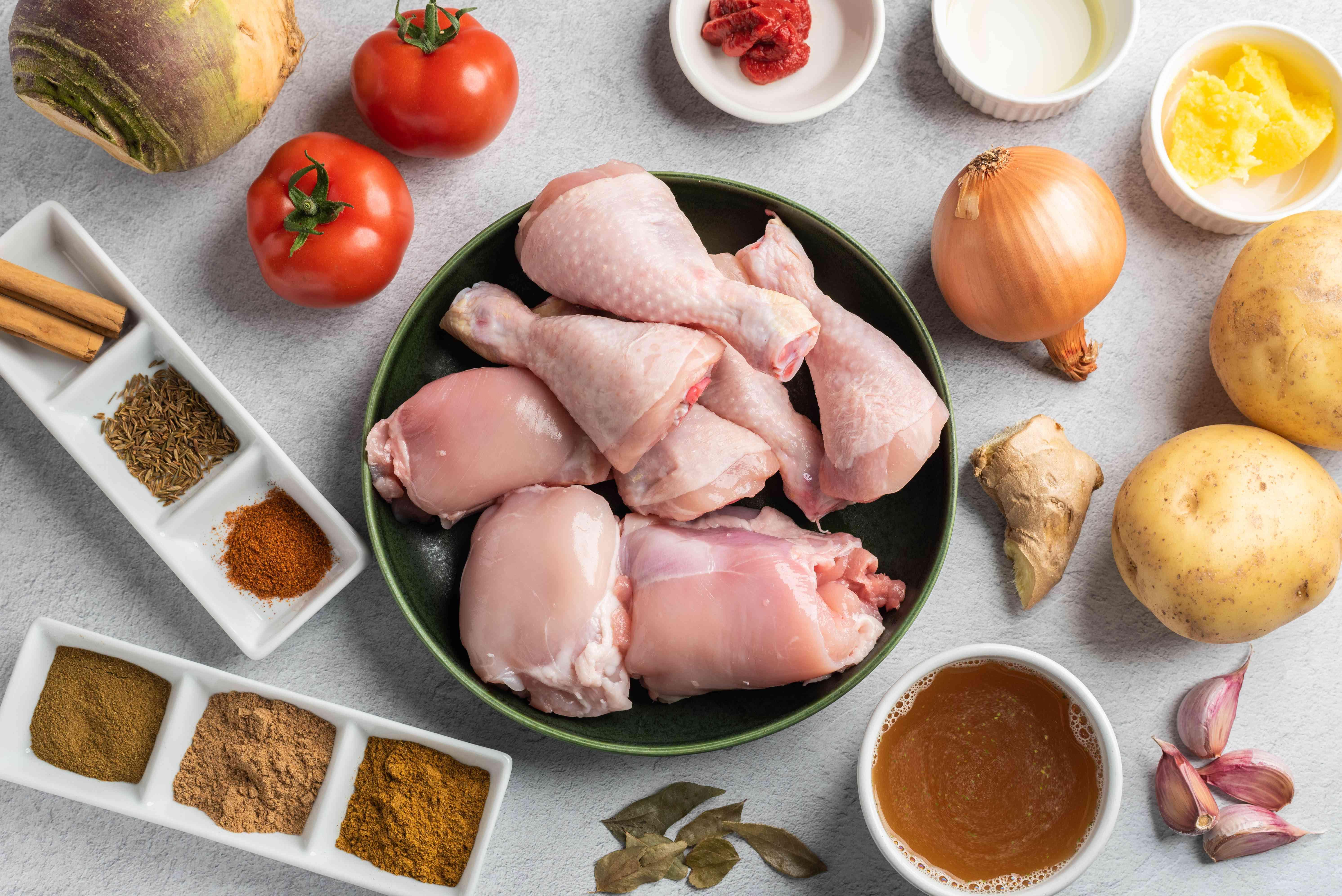 Ingredients for Durban chicken curry