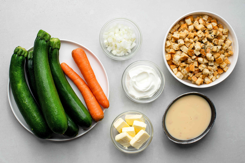 Zucchini and Stuffing Casserole ingredients