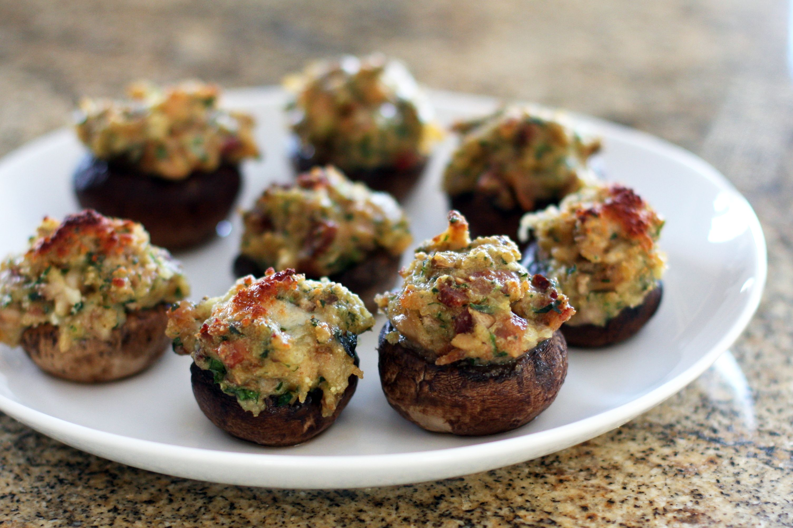 Meat Stuffed Mushrooms With Italian Sausage