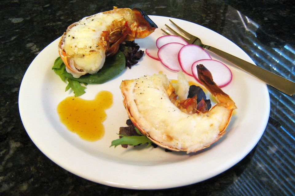 Lobster Tails with Mimosa Dressing